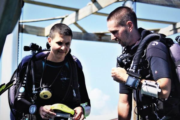 PADI Technical Diving TecRec Tec Deep Instructor course Honduras Central America